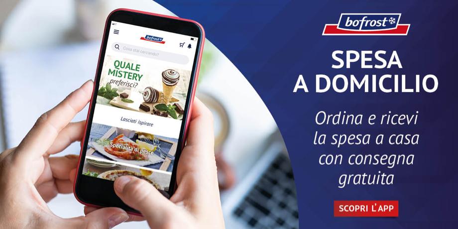 Annuncio pubblicitario che presenta la nuova app bofrost* Italia