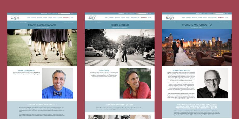 """Sezione """"Testimonials"""" con interviste e approfondimenti sui fotografi clienti"""